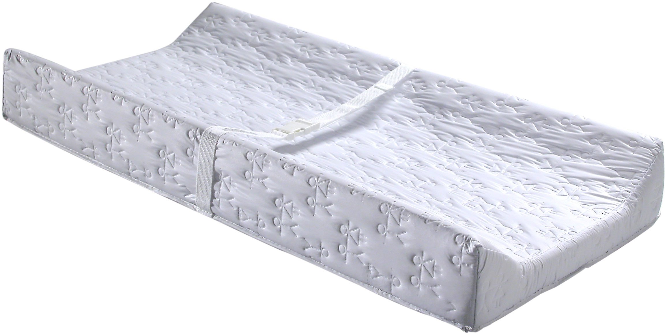 Child Craft Contour Changing Pad with Safety Belt, White