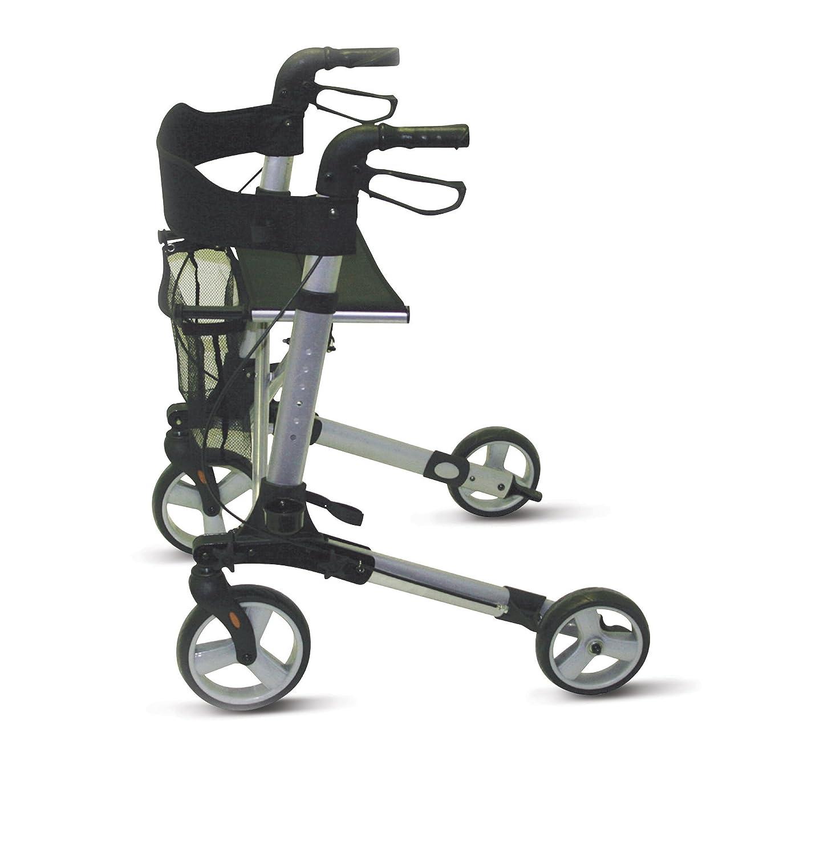 Patterson Medical 91439314 - Andador con ruedas, color negro y plateado: Amazon.es: Salud y cuidado personal