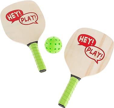 Hey! Play! Juego de pelotas de pádel - Par de raquetas livianas ...