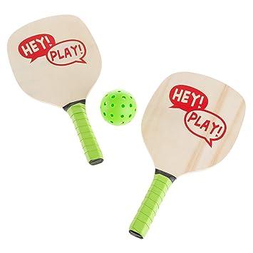 Desconocido Hey! Play! Juego de Pelotas de pádel - Par de Raquetas ...