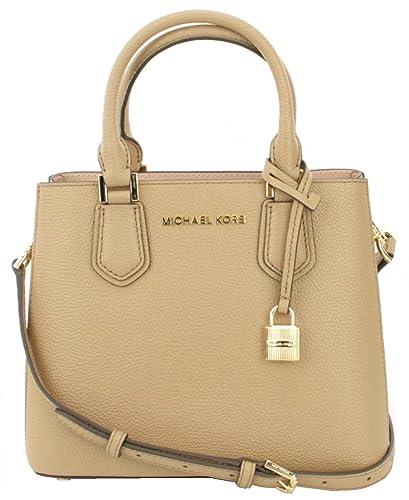 29d8f7e06397 Amazon.com: Michael Kors Adele Pebbled Leather Medium Messenger Bag in Dark  Khaki: Shoes
