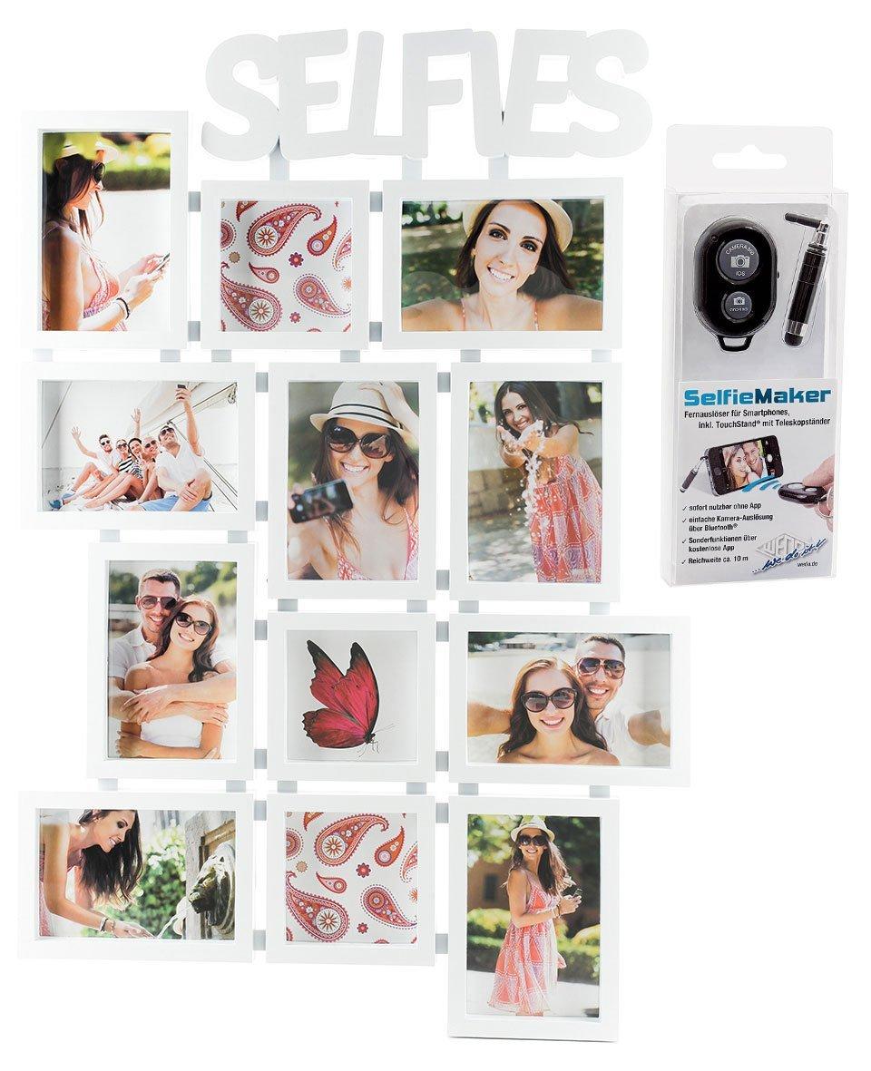 Amazon.de: levandeo SELFIES Bilderrahmen für 12 Fotos inkl. Selfie ...