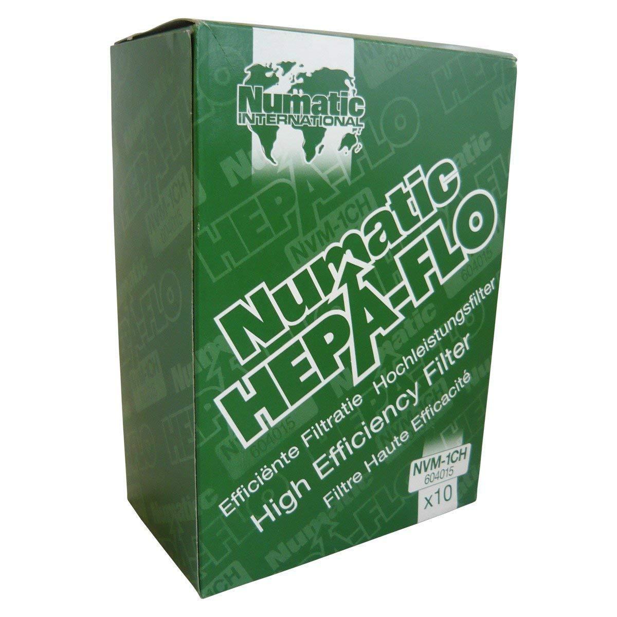 Numatic NVM-1CH - Bolsas con filtro HEPA para aspiradoras, paquete de 10 unidades