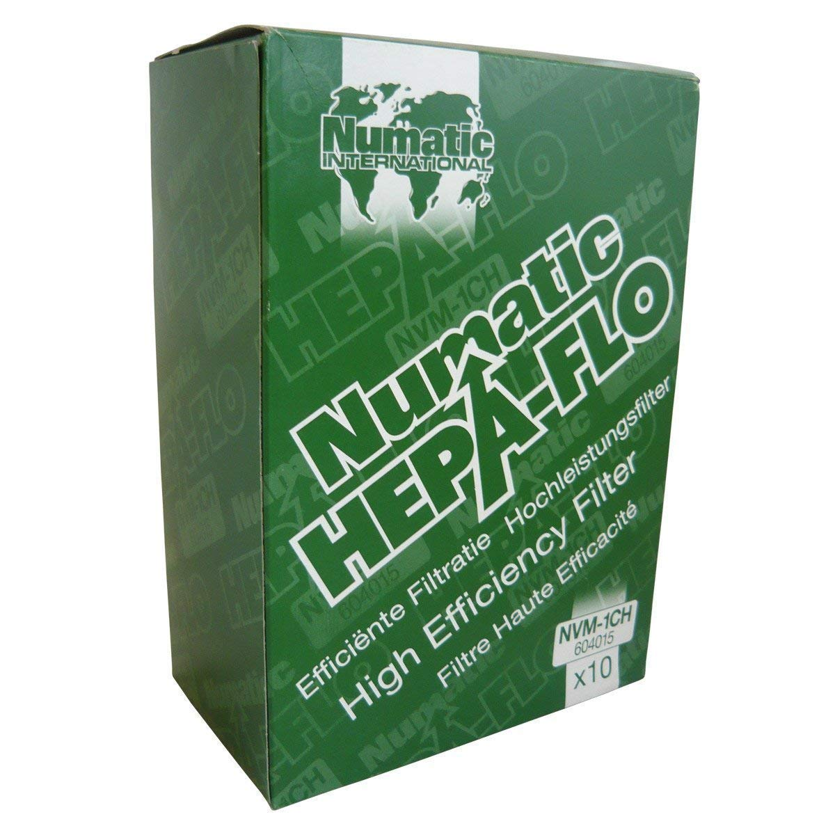 Numatic NVM-1CH HepaFlo' Disposable Filter Bags Pack - for the ''Henry'' HVR200A, the ''Hetty'' HET200A, the ''James'' JVP180, and the ''Henry Micro'' HVR200M Vacuum Cleaners - (10-Bags Per Pack)