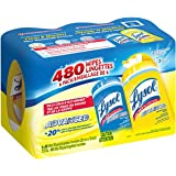 Lysol Disinfecting Wipes, 480 Wipes 6 Packs of 80 Wipes, (Lemon & Spring Waterfall)