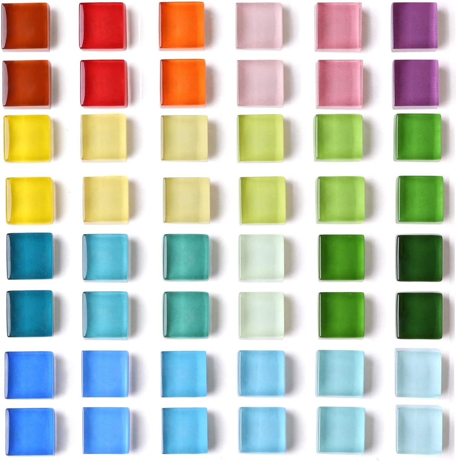48 Refrigerator Magnets Cute Fridge Magnets for Whiteboard, Locker | Colorful Magnets Glass Decorative Magnets for Office Kitchen (24 x 2)