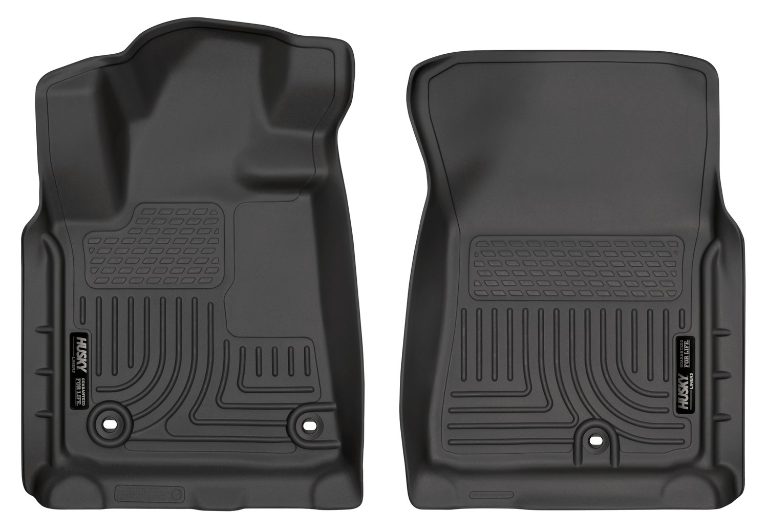 Husky Liners Front Floor Liners Fits 12-19 Tundra CrewMax/Double/Standard Cab.