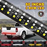 "Tailgate Light Bar- 60""Triple LED Truck Tailgate Light, Red LED Brake Light Strip, LED Solid Beam Weatherproof No Drill…"