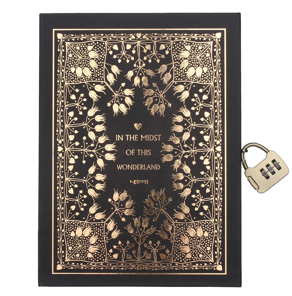 Zewik Classical mythology Abuse Golden Notebook With Password Lock-Classic Diary & Journal -lined Pages-Graduation gifts