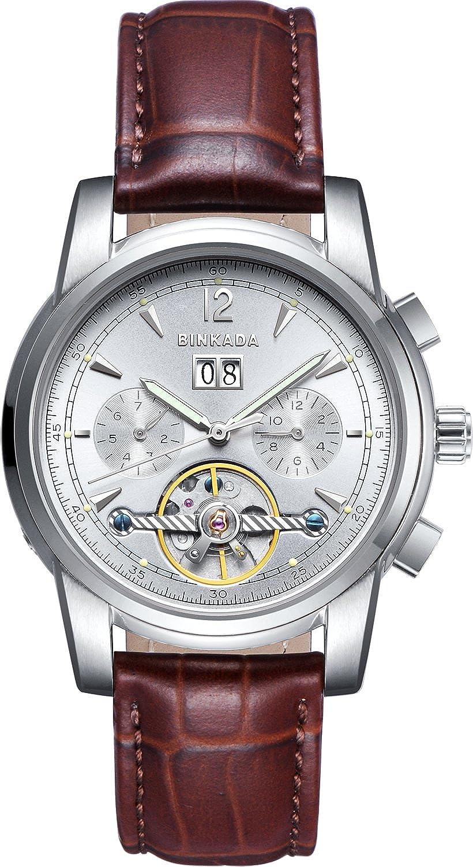 BINKADA Best値自動機械ホワイトダイヤルメンズ腕時計# 800702 – 1 B014YAQ6YK
