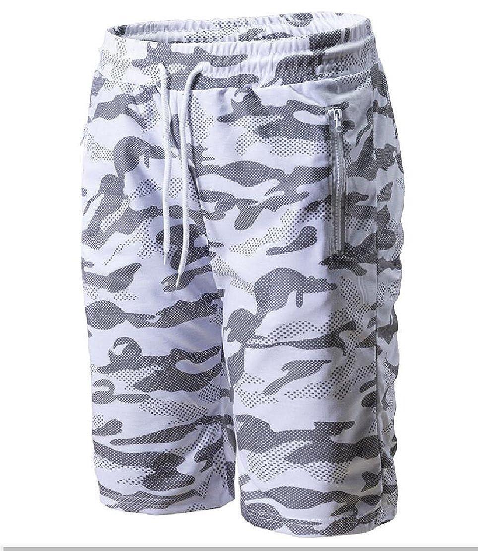 CYJ-shiba Mens Sports Training Camouflage Summer Shorts Workout Fitness Shorts