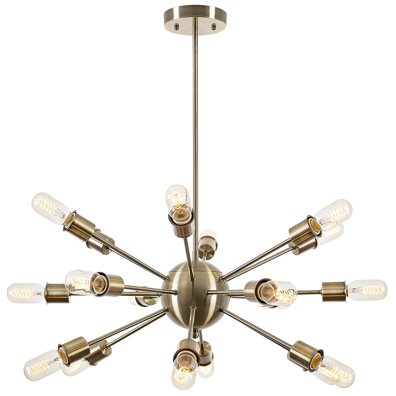 Light society 18 light sputnik style chandelier brass ls c115 light society 18 light sputnik style chandelier brass ls c115 brs amazon arubaitofo Choice Image