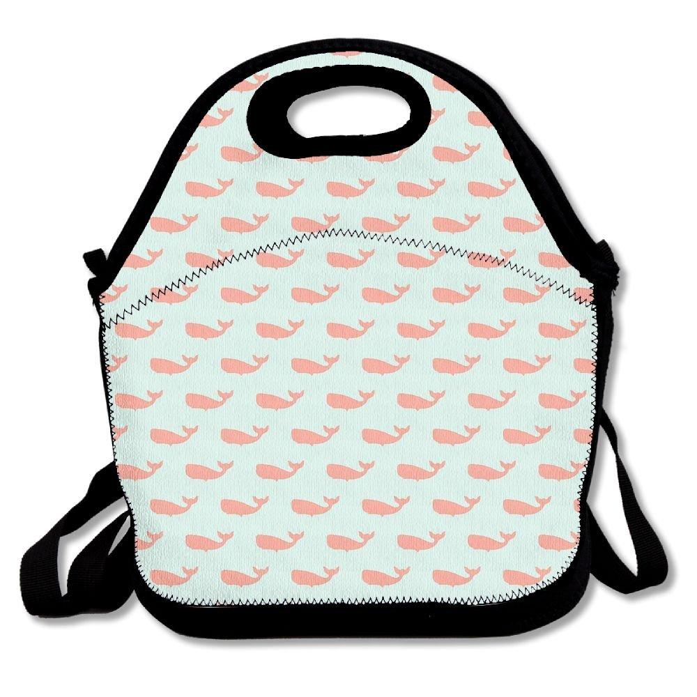 Preppy ballena Spa Unisex Cute Cómodo y fácil de llevar Bento bolsa para el almuerzo para picnic viaje bolsa bolsa para el almuerzo Bento bolsa bolsa QI
