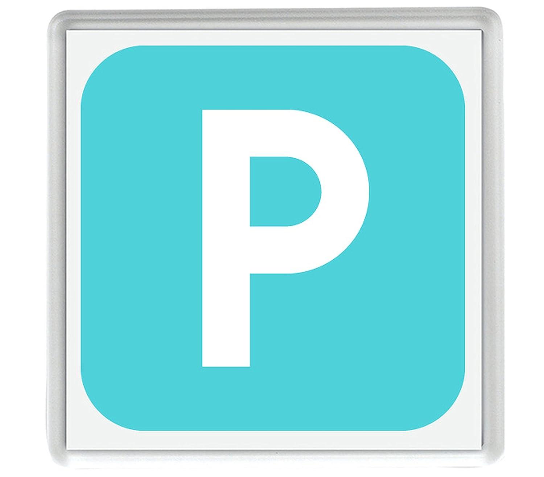 IamEngland Cuadrado Negativo Letra Latina mayúscula P Emoji 58mm x ...