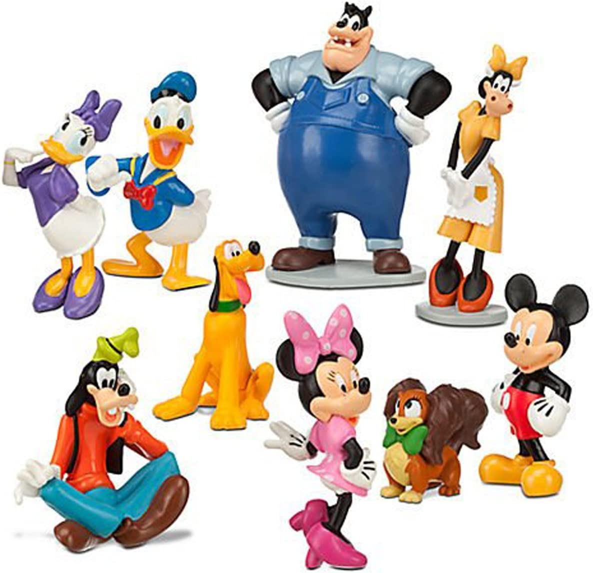 Amazon Com Disney Mickey Mouse Clubhouse Figurine Deluxe Figure Set Toys Games