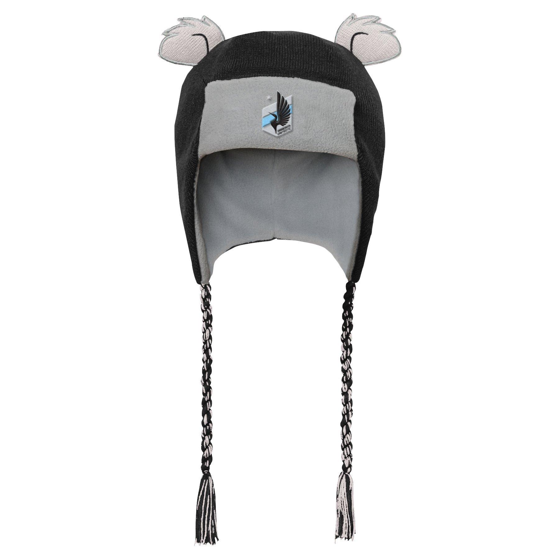 Outerstuff MLS Minnesota United R S47DL Boys Ears Trooped Hat, One Size, Black