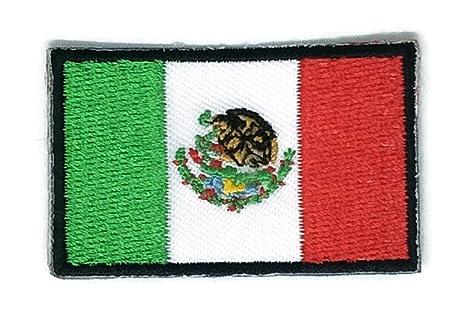 Bandera de México bordado Applique parche para planchar (nuevo tamaño mediano. Pasa ...
