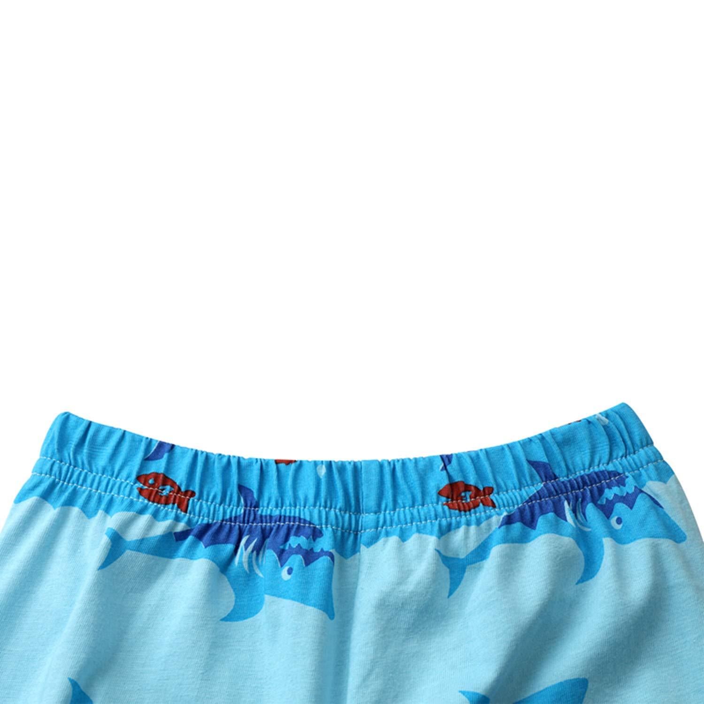 Tkala Boys Pajamas Summer Pjs Dinosaur Short Set 100/% Cotton Clothes Kids 1-12 Years Sleepwear