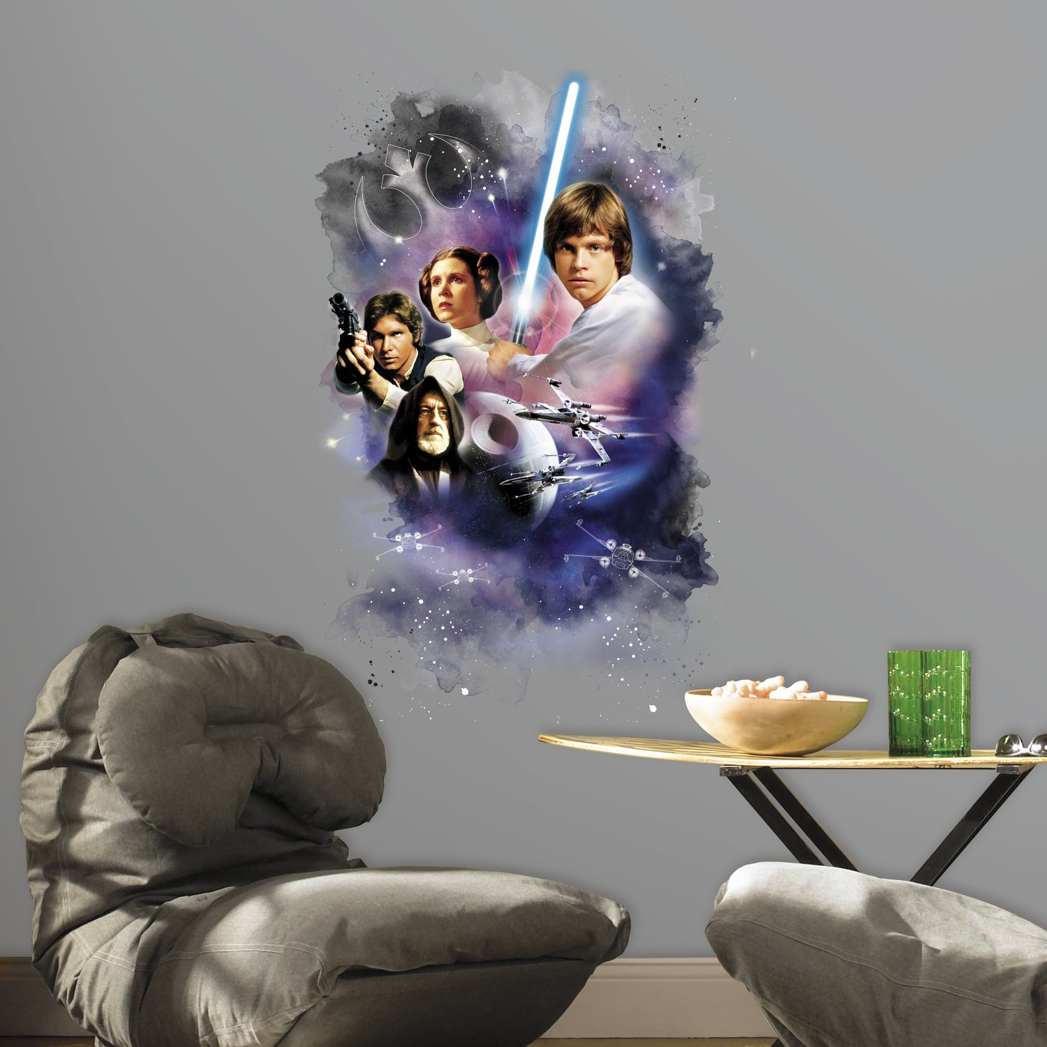 Thedecofactory Stickers Star Wars Classic Graphic Géant Roommates Repositionnables (89x58cm) - Ado - Style : Ado 3WHRK RMK3026TB