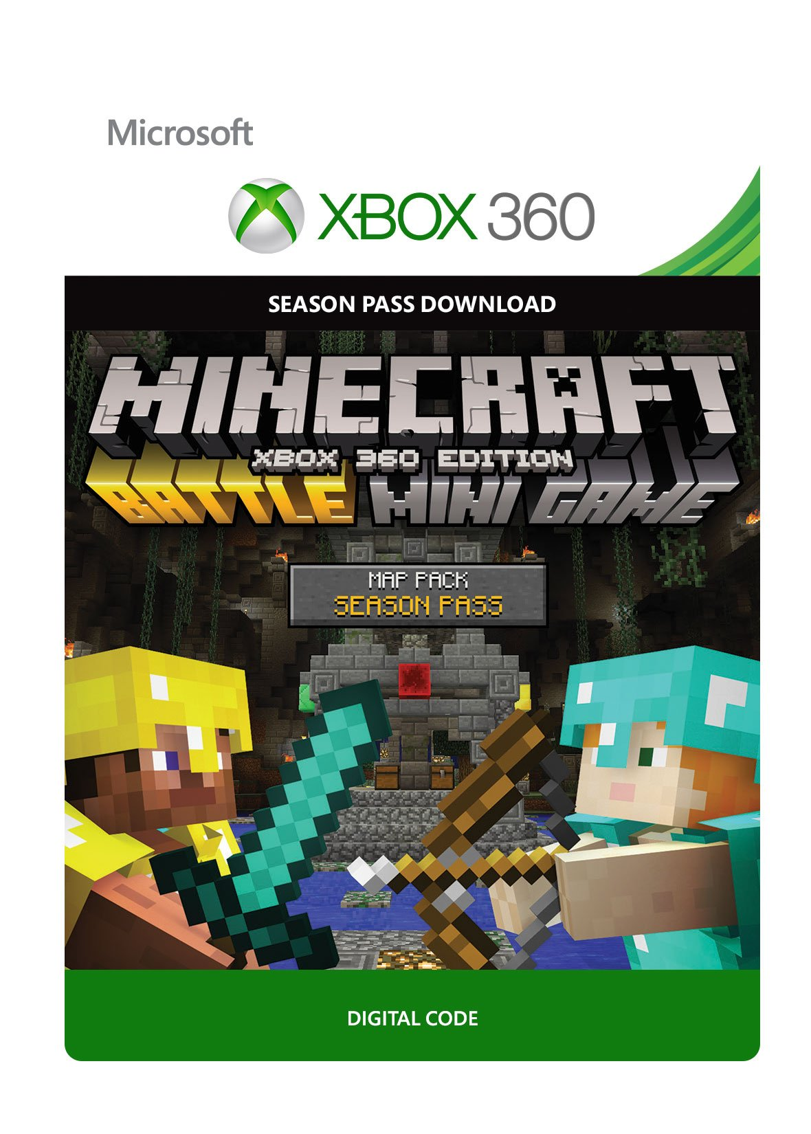 Amazon Minecraft Xbox 360 Edition Battle Map Pack Season