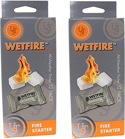 Amazon.com: 2 Paquetes De 12 wetfire Fire Starter tinders by ...