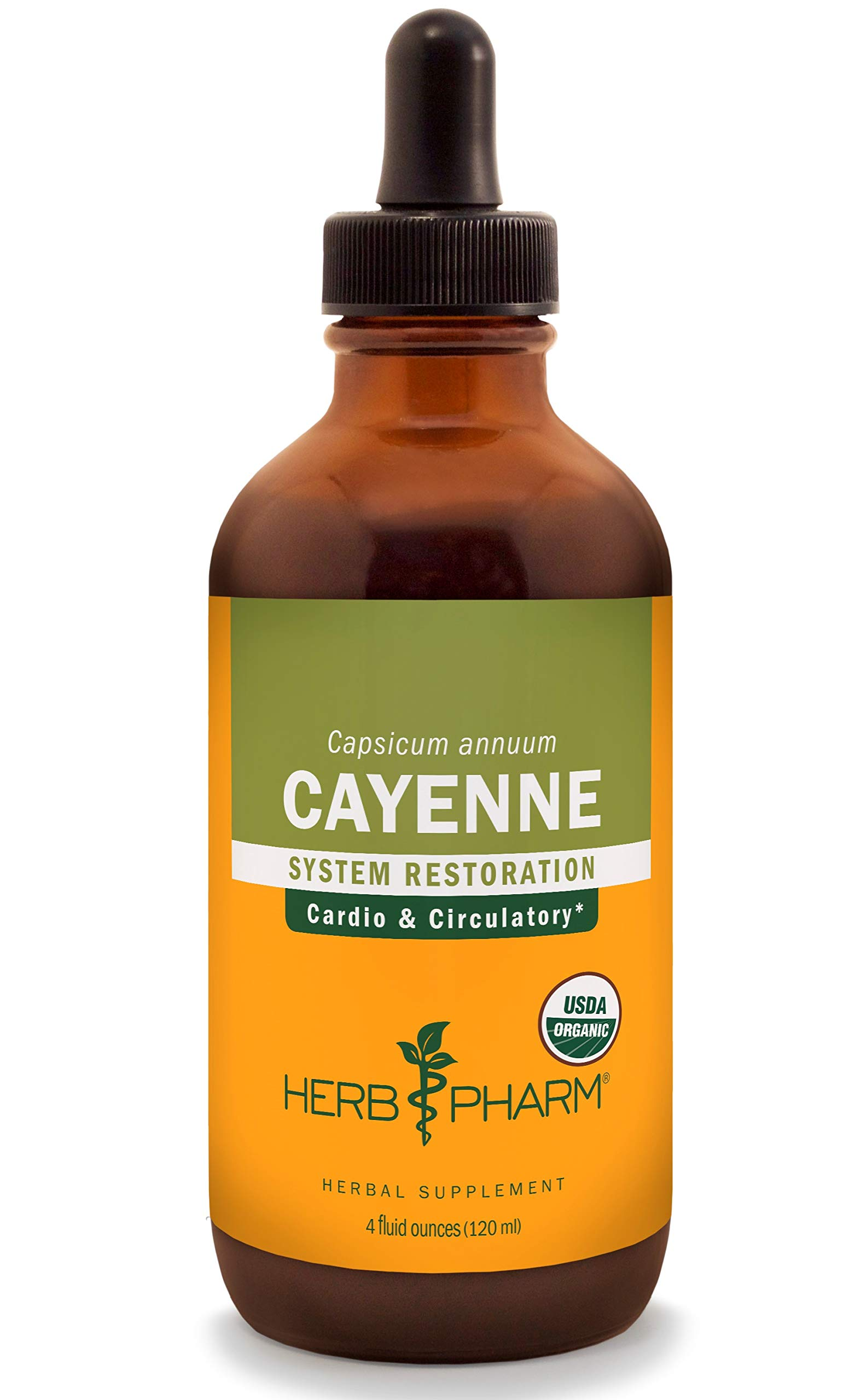 Herb Pharm Certified Organic Cayenne Liquid Extract for Cardiovascular and Circulatory Support - 4 Ounce by Herb Pharm (Image #1)