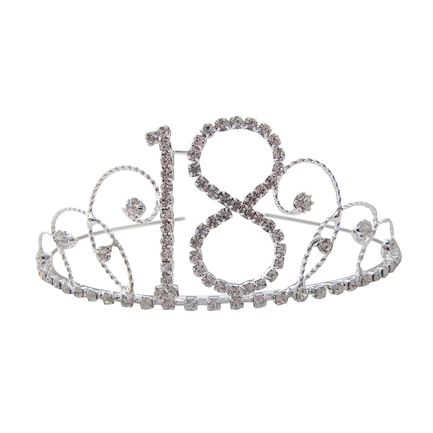 18th Birthday Tiara 18th Crown 18th Birthday Gift 18th Present Crystal Diamante 18th Tiara Pick A Gem HC293-FBA