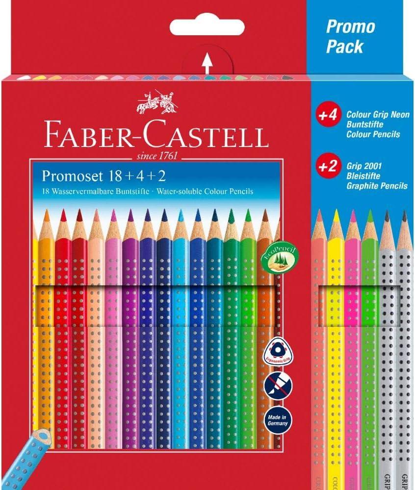 Faber Castell - Lápices de colores 24er Promotionset: Amazon.es: Oficina y papelería