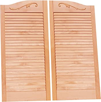 Saloon Western Swinging Bar Door OAK Wood Cafe Doors Cafe Doors by Cafe Doors Emporium Louvered FACTORY SECONDS Hinges for Cafe Doors Included Prefit for 30 Finished Opening Width