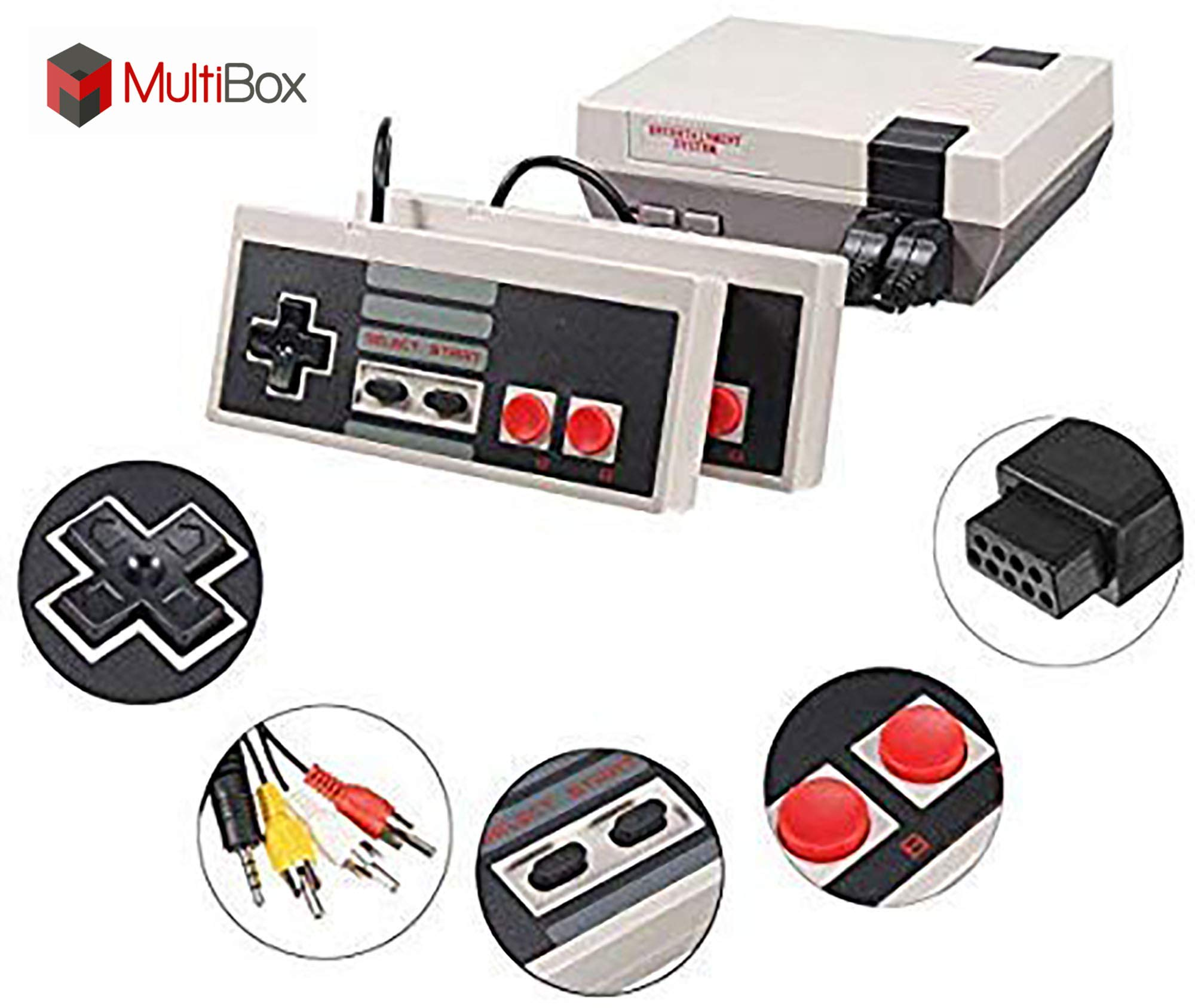 BEST BOX Classic Game Console Retro Childhood Game Classic Game Consoles Built-in 620 Childhood Classic Game Dual Control 8-Bit Console Handheld Game Player Console for Classic Games Family TV Video
