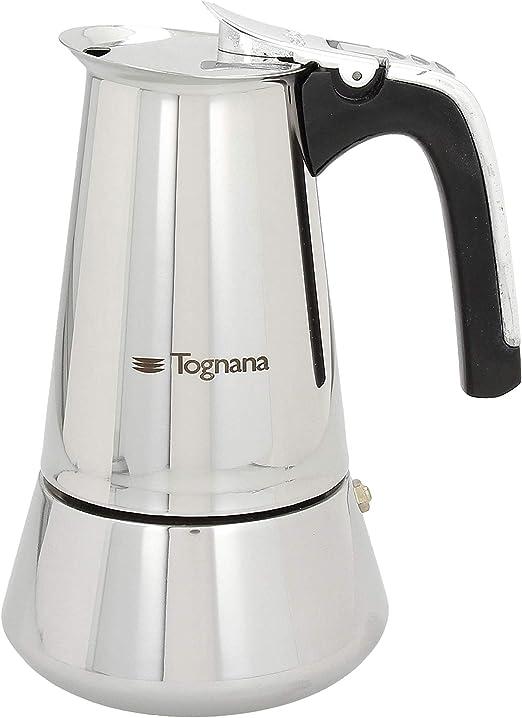 Tognana riflex Induction Cafetera 6 Tazas, Acero Inoxidable, Plata ...