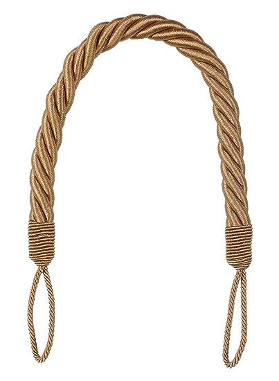 Ramcha 4 Piece Polyester Curtain Rope Set - Golden