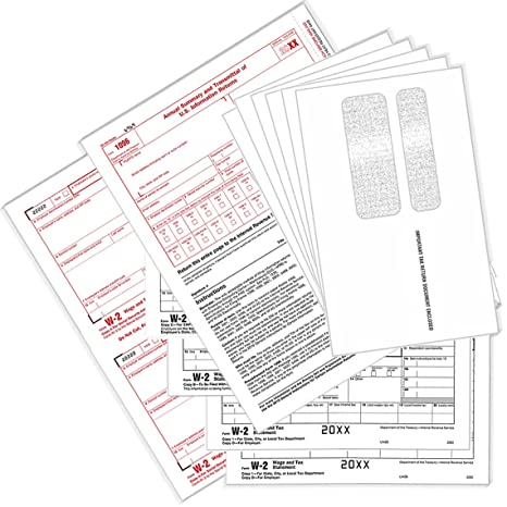 Amazon com : Perforated W2 Forms & W2 Envelopes 6-Part Tax