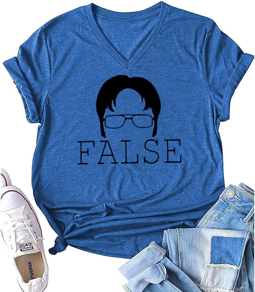 AEURPLT Womens Teen Girls Funny T Shirt False Graphic Cute Tee Summer Short Sleeve Lightweight Shirts Tops