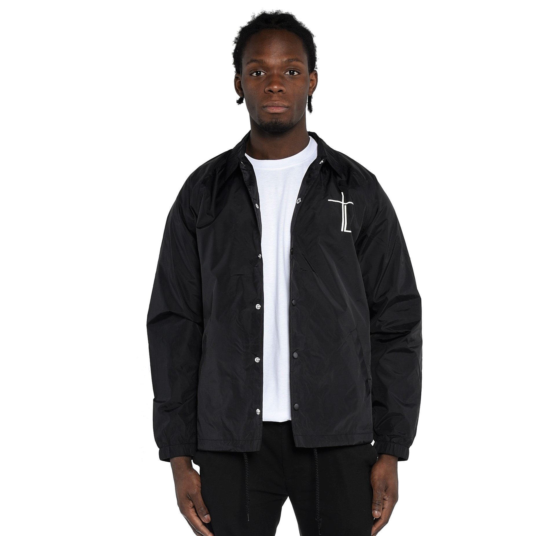 Men's Woven Coach Jacket - Core Logo by Traplord