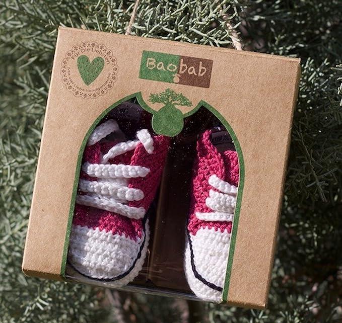 Baobab - Zapatillas de ganchillo para bebé Talla:7-14 Monate: Amazon.es: Bebé