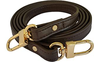 product image for Mautto Dark Brown Genuine Leather Handbag/Purse Strap for Petite Bags