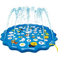 Arfbear Splash Pad for Toddlers, Sprinkler for Kids Outdoor Water Party Sprinkler Play Mat Wading Baby Pool for Learning Inflatable Water Pad Toy
