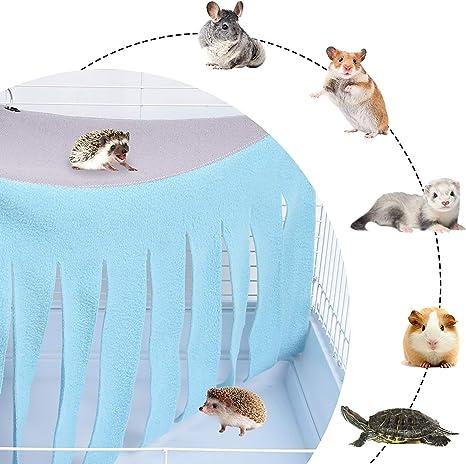 Furpaw Kleintier Zelt Hamster Hangematte Kafige Dekoration Zubehor Kleintierbett Haustier Spielzeug Quaste Fur Hamster Meerschweinchen Blau Grau Amazon De Haustier