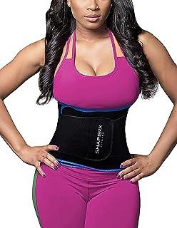 e81a208f39f DeepTwist Waist Trainer Belt - Adjustable Waist Trimmer Belly Fat Burner Slimming  Body Shaper…