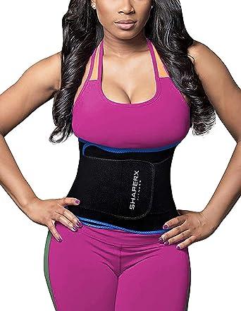 be82b7bbe5d DeepTwist Waist Trainer Belt - Adjustable Waist Trimmer Belly Fat Burner Slimming  Body Shaper for Women Men  Amazon.co.uk  Clothing