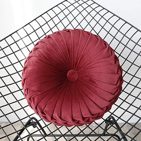Amazon.com: Cojín redondo de color liso para asiento de sofá ...