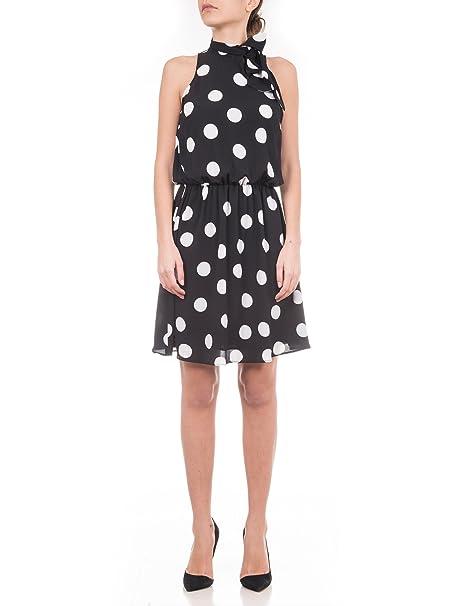 new concept bd8a7 85945 Abito Nero Liu Jo a Pois Bianco: Amazon.it: Abbigliamento