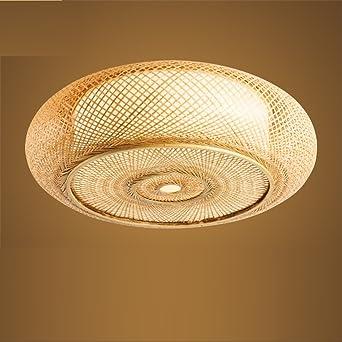 Wawzw Deckenlampe Japanische Bambus Rattan Topferei Kreative