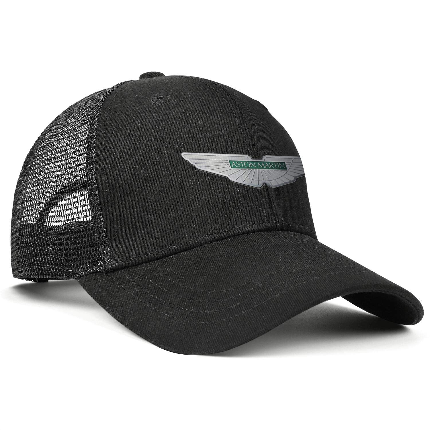 Cotton Black Dad Caps Aston-Martin Snapback Curved Mesh Hat