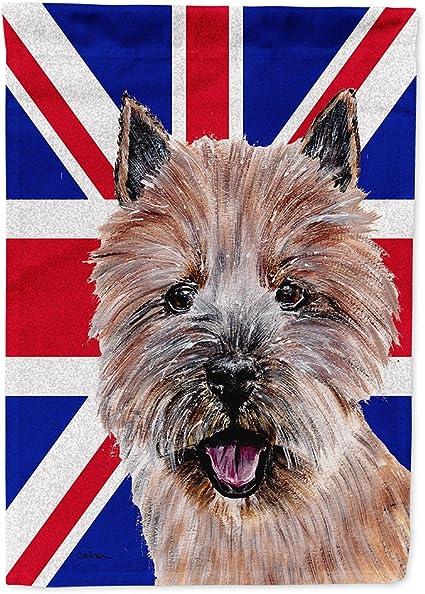 Caroline S Treasures Sc9877gf Norwich Terrier With English Union Jack British Flag Flag Garden Size Small Multicolor Garden Outdoor