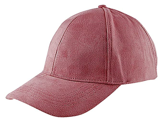 bfe43bb13ce Maze Women s Soft Pastel Cotton Polyester Faux Suede Snapback Baseball Cap