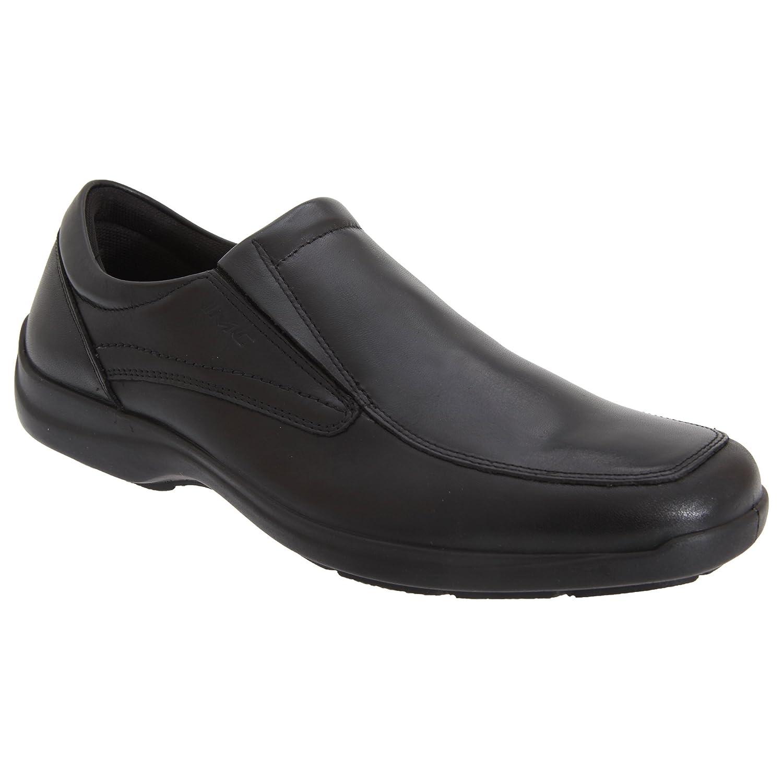 iMac - Zapatos Casuales de Piel Modelo Gusset Twin Hombre Caballero - Trabajo/Oficina 40 EU|Negro
