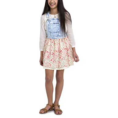a25ac234d Amazon.com: Jordache Girls' Denim Skirtall Dress (S 6/6X): Clothing