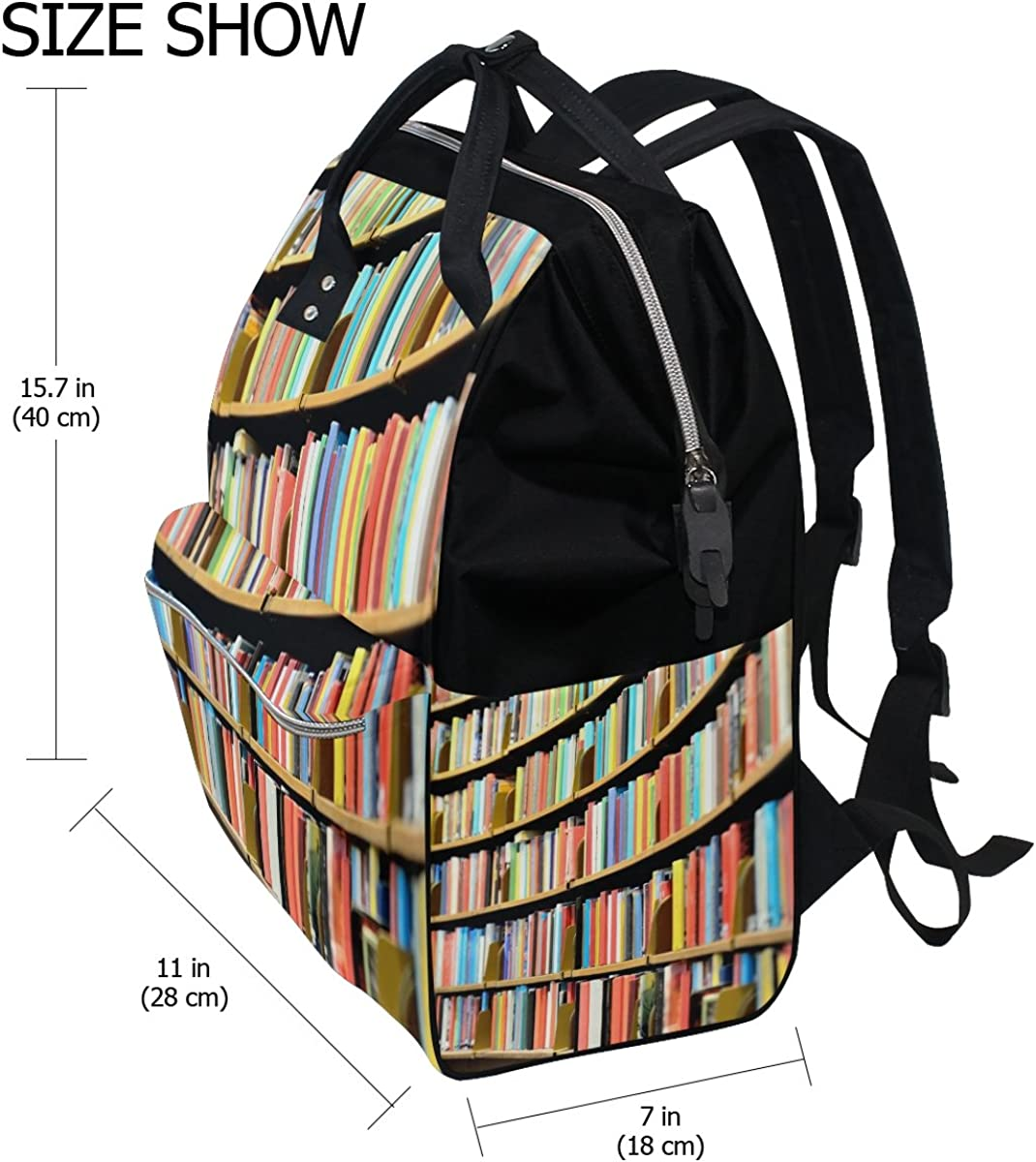 imobaby Bookcase In Library Changing Bags Large Capacity Handbags Canvas Shoulder Bag Backpack